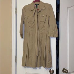 Ralph Lauren khaki dress size 8p